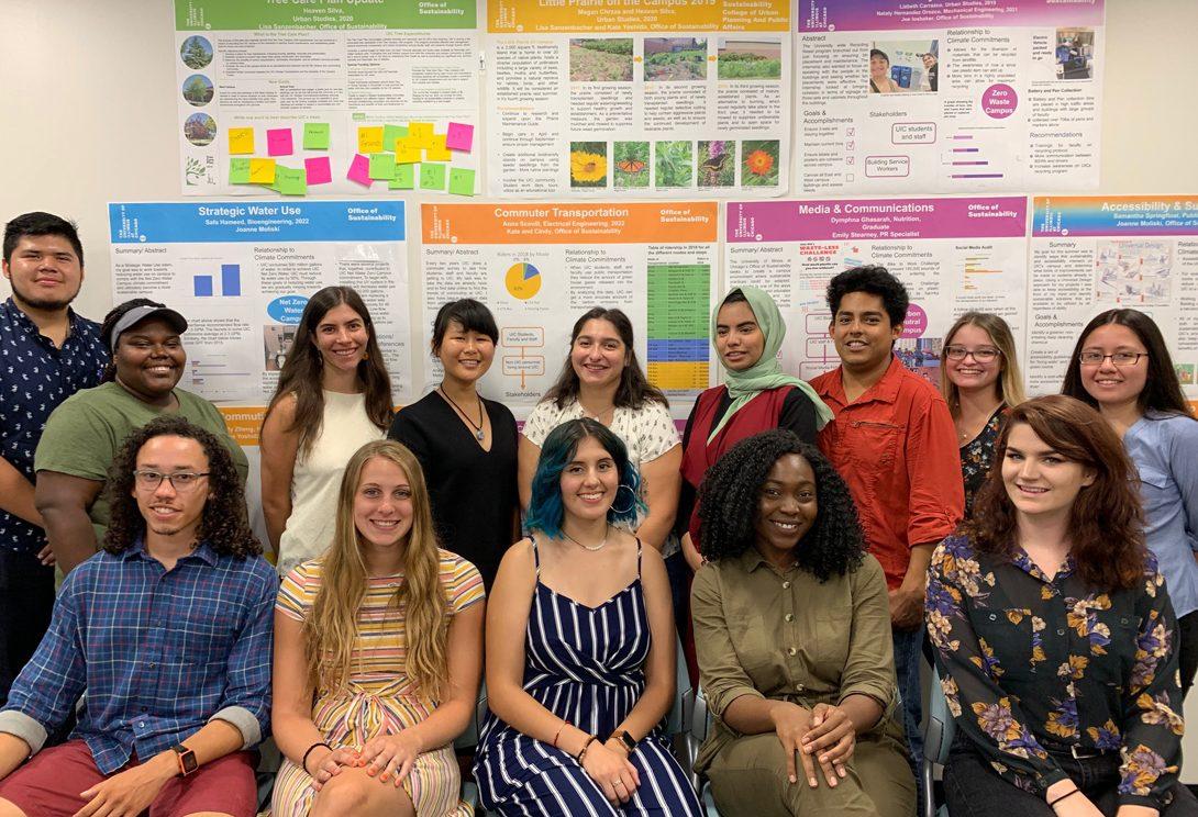 Students at the sustainability internship program poster presentation